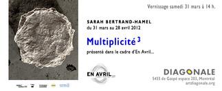 Sarah Bertrand-Hamel - Multiplicité3 @Diagonale