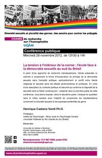 Conférence : «La tension à l'intérieur de la norme: l'école face à la démocratie sexuelle au sud du Brésil»