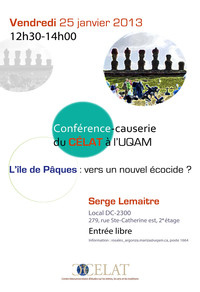 Confrence: Lle de Pques: vers un nouvel cocide?