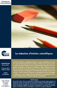 Conf�rence: �La r�daction d'articles scientifiques�