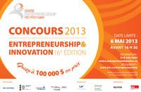 Concours Entrepreneurship & Innovation 2013 : dépôt de projets le 6 mai avant 16 h 30 !