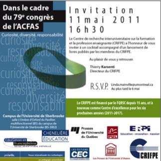 Lancement de livres du CRIFPE lors du 79e Congrès de l'ACFAS