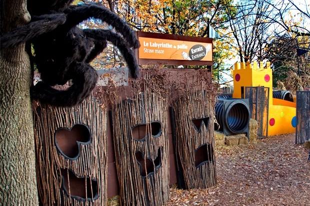 La cour des petits monstres, au Jardin botanique de Montréal. Crédit-image à l'Espace pour la vie.