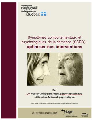 Formation: «Symptômes comportementaux et psychologiques de la démence (SCPD)