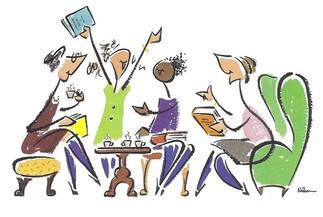 Cercle littéraire, Les jeudis, 26 janvier, 23 février, 30 mars, 27 avril, 25 mai, 29 juin de 13h à 15h