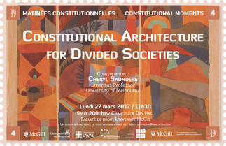Matinées constitutionnelles : Constitutional Architecture for Divided Societies