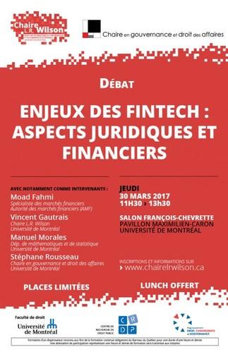 Enjeux des Fintech: aspects juridiques et financiers
