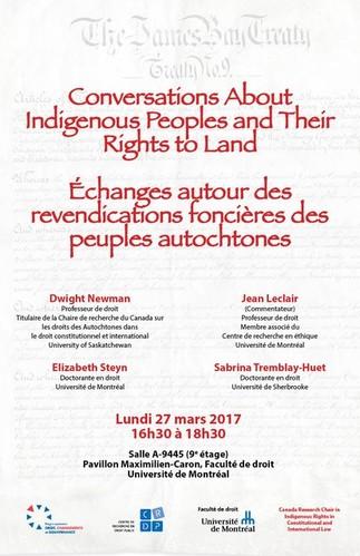 Échanges autour des revendications foncières des peuples autochtones