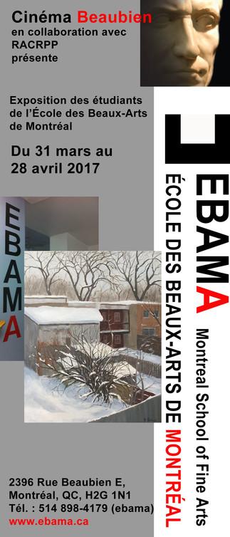 Exposition des étudiants de l'École des beaux-arts de Montréal au Cinéma Beaubien