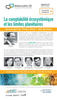 Débat : La comptabilité systémique et les limites planétaires