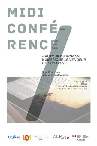 Midi-conférence «Autour du roman numérique Le vendeur de goyaves» avec Ugo Monticone