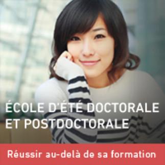 École d'été doctorale et postdoctorale