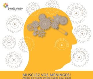 Musclez vos méninges, les mercredis 13 septembre, 11 octobre, 8 novembre, 6 décembre, de 10h à 12h