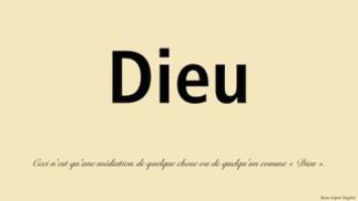 Médiations théologiques de quelque chose ou de quelqu'un comme « Dieu »