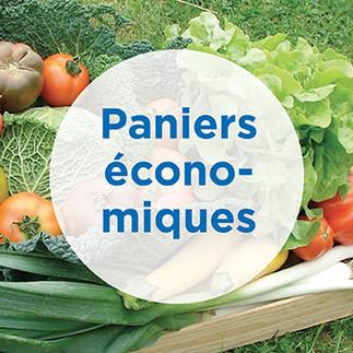 Paniers économiques : fruits et légumes