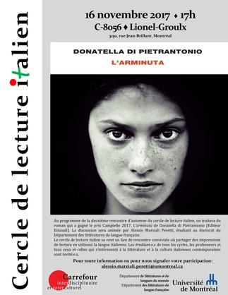 Cercle de lecture italien - «L'arminuta» de Donatella di Pietrantonio