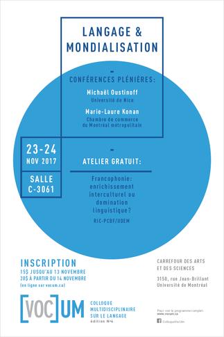 VocUM 2017 - Langage et mondialisation