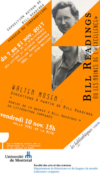 Exposition - Bill Readings ou les ruines de l'«excellence»