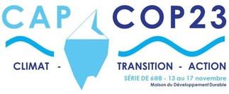 CAP COP23 - La COP comme si vous y étiez! Une série de 6 à 8 du 13 au 17 novembre à la Maison du Développement durable!