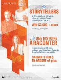 Concours national annuel du CRSH : J'ai une histoire à raconter