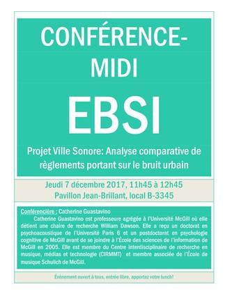 Projet Ville Sonore: Analyse comparative de règlements portant sur le bruit urbain