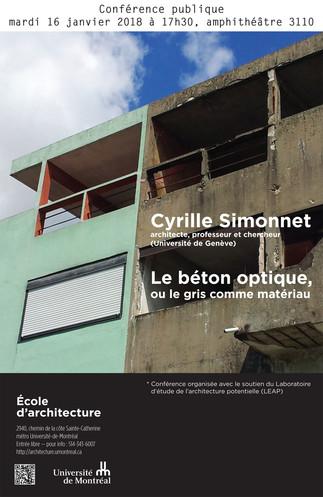 Cyrille Simonnet : Le béton optique, ou le gris comme matériau