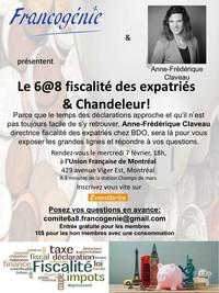 6 @ 8 Francogénie: Fiscalité des expatriés et Chandeleur!