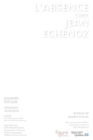 Journée d'étude: «L'absence chez Jean Echenoz»
