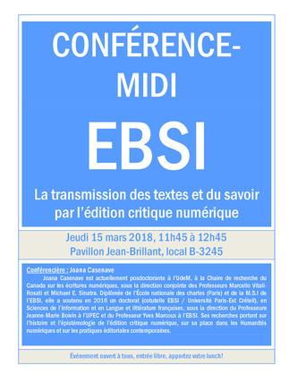 La transmission des textes et du savoir par l'édition critique numérique