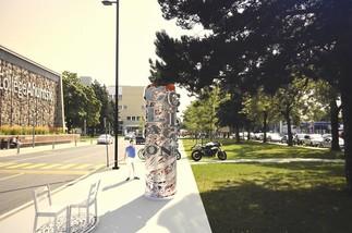 Inauguration de l'oeuvre d'art public A.C.C.U.E.I.L.L.O.N.S. de Michel Goulet