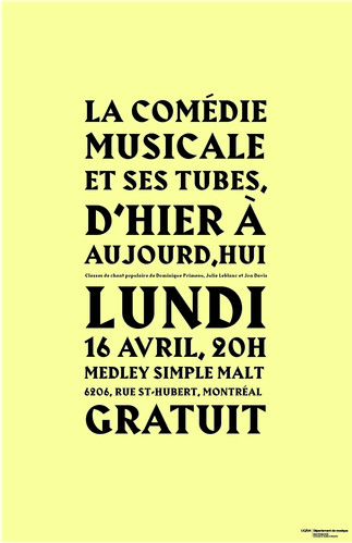 Concert: «La comédie musicale et ses tubes, d'hier à aujourd'hui»