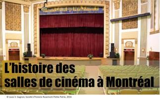 L'histoire des salles de cinémas à Montréal