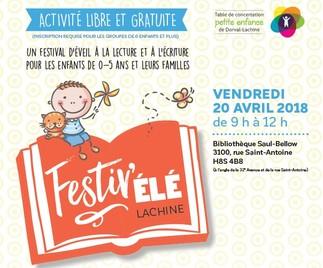 FestivÉLÉ : festival de lecture pour les tout-petits (0 à 5 ans)