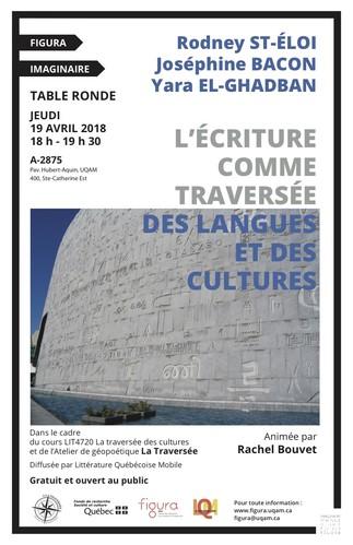 Table ronde: «L'écriture comme traversée des langues et des cultures»