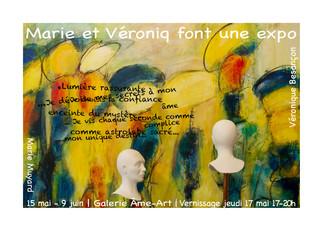 VERNISSAGE Marie et Véronique dont une expo