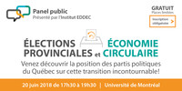 Élections provinciales et économie circulaire : la position des partis politiques du Québec sur cette transition incontournable