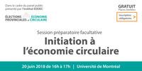Initiation à l'économie circulaire [session préparatoire facultative]