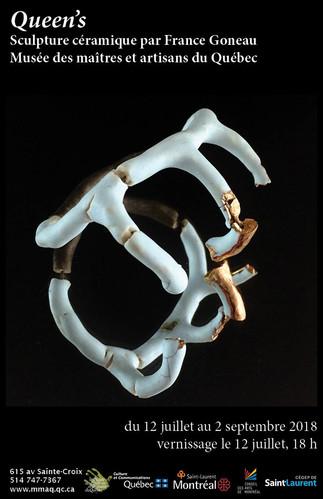 Exposition 'Queens' Sculpture céramique par France Goneau