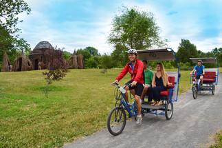Vélopousse au Jardin botanique