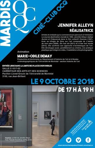 Mardi OCQ : Ciné-Club avec Jennifer Alleyn