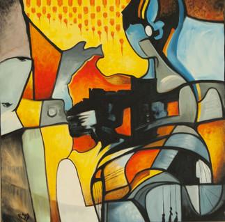 Rencontres inattendues, les toiles colorées et vibrantes de R. Guy Pilon à l'Entrepôt de Lachine
