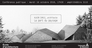 La part du paysage avec l'architecte Alain Carle