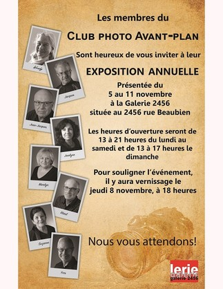 Exposition annuelle du Club photo Avant-plan