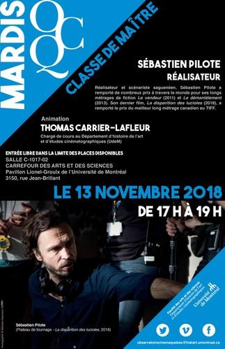 Mardi OCQ : Classe de maître avec Sébastien Pilote