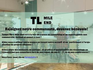 Temps libre Mile End recrute des bénévoles !
