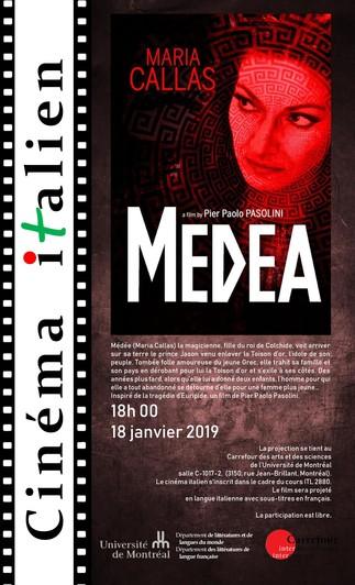 Cinéma Italien - «Medea» de Pier Paolo Pasolini