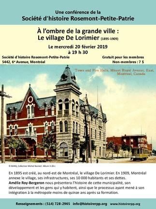 À l'ombre de la grande ville : Le village De Lorimier (1895-1909)