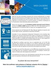 Midi-Causerie avec GHD Consultants