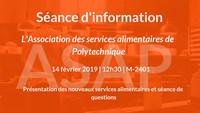 Séance d'information - Nouveaux services alimentaires