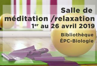 Séance de méditation guidée à la Bibliothèque ÉPC-Biologie